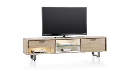 Verano meuble tv 1 tiroir 1 porte rabattante 3 niches for Meuble xooon