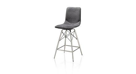 chaise de bar pieds en inox c line xooon. Black Bedroom Furniture Sets. Home Design Ideas